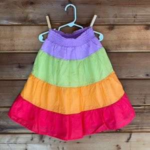 Gymboree Multicolored Rainbow Skirt